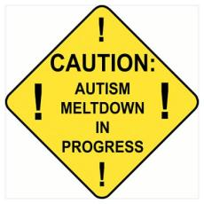 Autism Meltdown poster Cafe Press