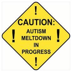 Autism Meltdown poster Cafe Press